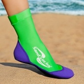 VINCERE LIME GREEN-PURPLE SAND SOCKS