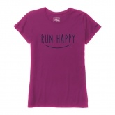 BROOKS RUN HAPPY SMILE SS T CURRANT